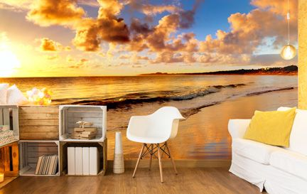 Sunset Wallpaper Wall Murals Wallpaper