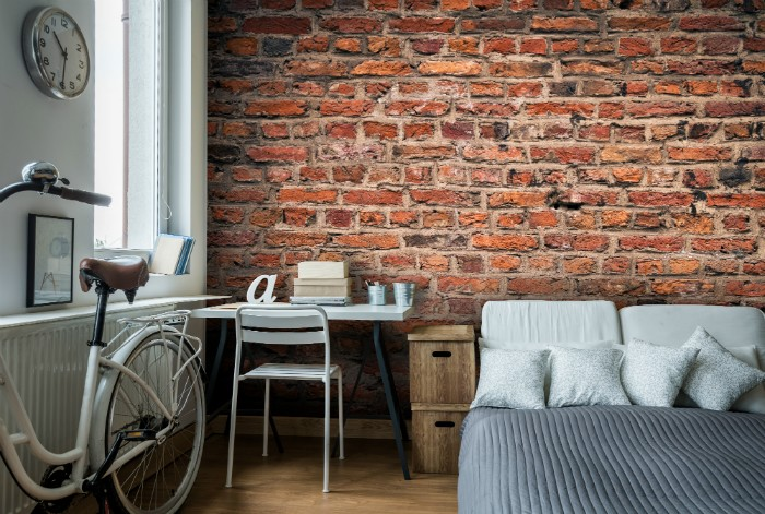 2017 Home decor trends, brick wall and terracotta industrial trend
