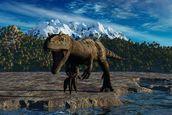 Allosaurus wallpaper mural thumbnail