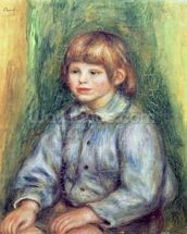 Seated Portrait of Claude Renoir (1901-81) 1905-08 (oil on canvas) wall mural thumbnail