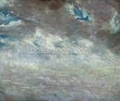 Cloud Study, 1821 (oil on paper on board) mural wallpaper thumbnail