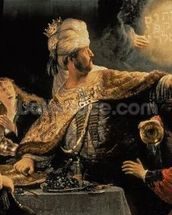Belshazzars Feast c.1636-38 (oil on canvas) wall mural thumbnail