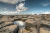 Giant's Causeway Water Reflection wall mural thumbnail