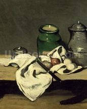 Still Life with a Kettle, c.1869 (oil on canvas) wallpaper mural thumbnail