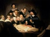 The Anatomy Lesson of Dr. Nicolaes Tulp, 1632 (oil on canvas) mural wallpaper thumbnail