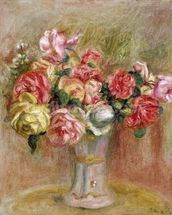 Roses in a Sevres vase wall mural thumbnail