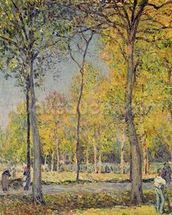 The Bois de Boulogne (oil on canvas) wall mural thumbnail
