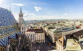 Panoramic View of Vienna wall mural thumbnail