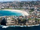 Ariel of Bondi Beach, Sydney wall mural thumbnail