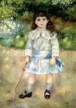 Child with a Whip, 1885 (oil on canvas) wallpaper mural thumbnail