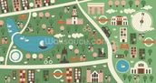Hyde Park Map wallpaper mural thumbnail