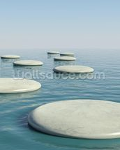 Zen Stepping Stones mural wallpaper thumbnail
