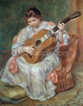 The Guitar Player, 1897 (oil on canvas) wallpaper mural thumbnail
