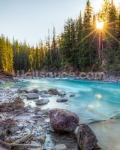 Natural Bridge Canadian Rockies wallpaper mural thumbnail