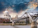 Millennium Bridge, London wall mural thumbnail