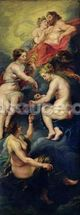 The Medici Cycle: The Three Fates Foretelling the Future of Marie de Medici (1573-1642) 1621-25 (oil on canvas) wallpaper mural thumbnail