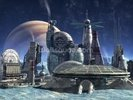 Jupiter moon colony wall mural thumbnail