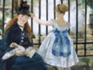 Gare St. Lazare, 1872-3 (oil on canvas) wall mural thumbnail