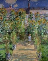 The Artists Garden at Vetheuil, 1880 (oil on canvas) wall mural thumbnail