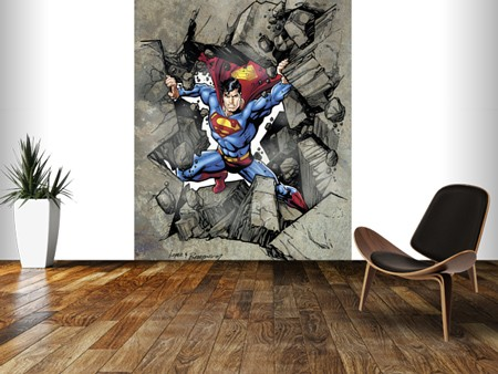 Superman wallpaper mural