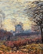 Landscape near Louveciennes, 1873 wallpaper mural thumbnail