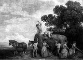Hay-Makers (engraving) wall mural thumbnail