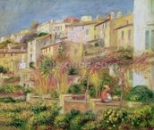 Terrace in Cagnes, 1905 (oil on canvas) wallpaper mural thumbnail