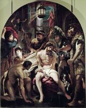 The Crowning with Thorns, 1602 (oil on panel) wall mural thumbnail