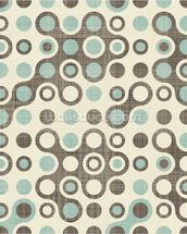 Blue Brown Retro Pattern wallpaper mural thumbnail