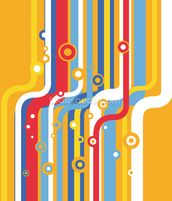 Retro Colourful Lines wallpaper mural thumbnail