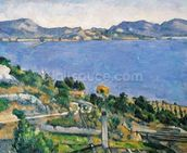 LEstaque, View of the Bay of Marseilles, c.1878-79 (oil on canvas) wall mural thumbnail
