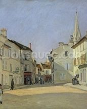 Rue de la Chaussee at Argenteuil, 1872 (oil on canvas) mural wallpaper thumbnail