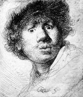 Self Portrait, 1630 (etching) wall mural thumbnail