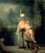 David and Jonathan, 1642 (oil on panel) wall mural thumbnail