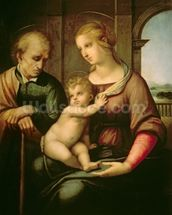The Holy Family, 1506 (oil on canvas) wall mural thumbnail