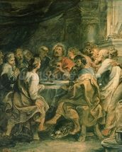 The Last Supper, c.1630-31 (oil on panel) mural wallpaper thumbnail