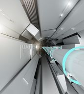 Hadron collider tunnel wall mural thumbnail