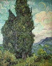 Cypresses, 1889 (oil on canvas) mural wallpaper thumbnail