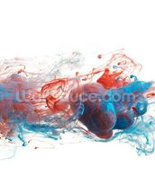 Red and Blue Ink Abstract mural wallpaper thumbnail