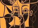 Picasso - Orange wall mural thumbnail