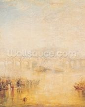 View of the Pont Neuf, Paris (oil on canvas) mural wallpaper thumbnail