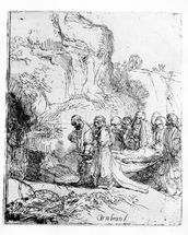 Christ carried to the tomb, c.1645 (etching) mural wallpaper thumbnail