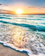 Cancun Beach Sunrise, Mexico mural wallpaper thumbnail
