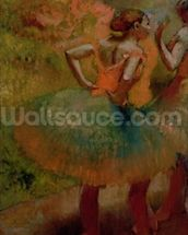 Dancers Wearing Green Skirts, c.1895 (oil on canvas) wall mural thumbnail