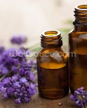 Essential Oil and Lavender Flowers wall mural thumbnail
