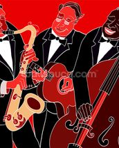 Jazz Band Trio wallpaper mural thumbnail