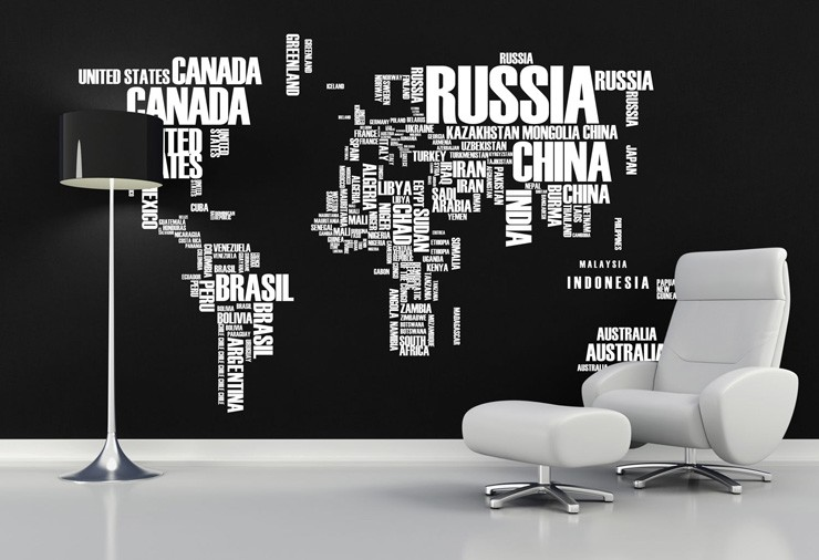 word cloud map mural idea