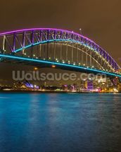 Sydney Harbour Bridge at Night wallpaper mural thumbnail