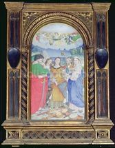 St. Cecilia surrounded by St. Paul, St. John the Evangelist, St. Augustine and Mary Magdalene, (gouache on vellum) (see 182507 and 228955) wall mural thumbnail