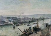 Saint-Sever Port, Rouen, 1896 (oil on canvas) mural wallpaper thumbnail
